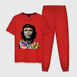 Пижама хлопковая мужская Che цвета красный — фото 1