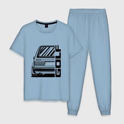 Пижама хлопковая мужская Volkswagen Golf Z цвета мягкое небо — фото 1
