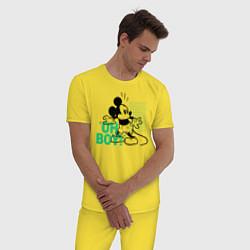Пижама хлопковая мужская Oh boy! Mickey Mouse! цвета желтый — фото 2