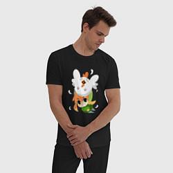 Пижама хлопковая мужская The Legend of Zelda цвета черный — фото 2
