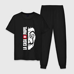 Пижама хлопковая мужская La Casa de Papel Z цвета черный — фото 1