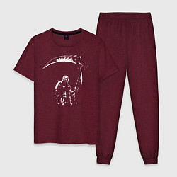 Пижама хлопковая мужская Ад Данте цвета меланж-бордовый — фото 1
