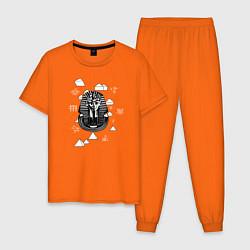 Пижама хлопковая мужская Каир Древний Египет цвета оранжевый — фото 1