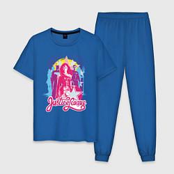 Пижама хлопковая мужская Лига справедливости цвета синий — фото 1