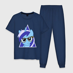 Пижама хлопковая мужская Trixie hipster цвета тёмно-синий — фото 1