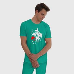 Пижама хлопковая мужская Death Note цвета зеленый — фото 2