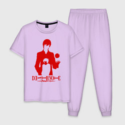 Пижама хлопковая мужская Death Note цвета лаванда — фото 1
