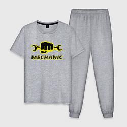 Пижама хлопковая мужская Механик цвета меланж — фото 1