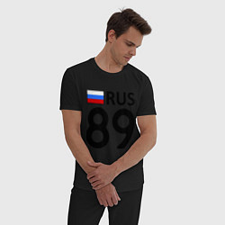 Пижама хлопковая мужская RUS 89 цвета черный — фото 2