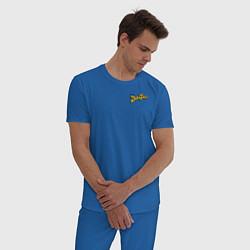 Пижама хлопковая мужская Scrooge McDuck цвета синий — фото 2