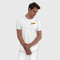 Пижама хлопковая мужская Scrooge McDuck цвета белый — фото 2