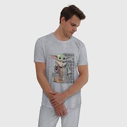 Пижама хлопковая мужская Неизвестный вид цвета меланж — фото 2