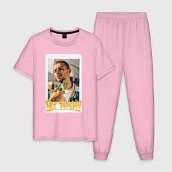Пижама хлопковая мужская Max Barskih цвета светло-розовый — фото 1