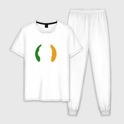 Пижама хлопковая мужская Конор МакГрегор цвета белый — фото 1