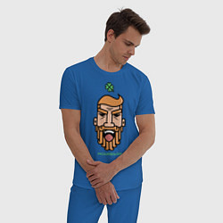 Пижама хлопковая мужская Конор МакГрегор цвета синий — фото 2