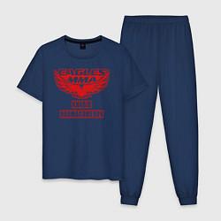 Пижама хлопковая мужская MMA цвета тёмно-синий — фото 1