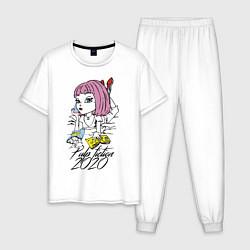 Пижама хлопковая мужская Криминальное чтиво 2020 цвета белый — фото 1