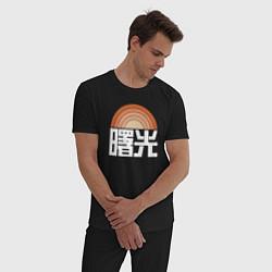 Пижама хлопковая мужская DESTINY 2 цвета черный — фото 2