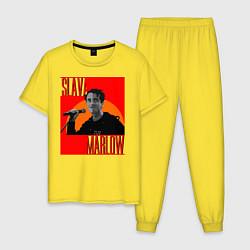Пижама хлопковая мужская SLAVA MARLOW цвета желтый — фото 1