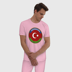 Пижама хлопковая мужская Азербайджан цвета светло-розовый — фото 2