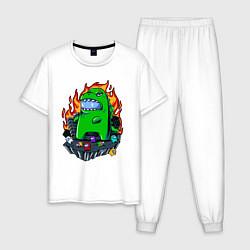 Пижама хлопковая мужская AMONG US цвета белый — фото 1