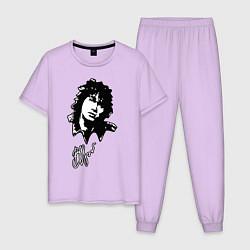 Пижама хлопковая мужская ВИКТОР ЦОЙ цвета лаванда — фото 1