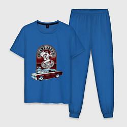 Пижама хлопковая мужская CHEVY NOVA цвета синий — фото 1