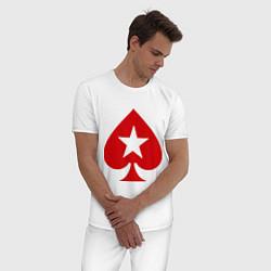 Пижама хлопковая мужская Покер Пики Poker Stars цвета белый — фото 2
