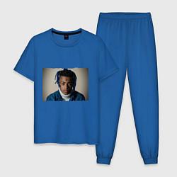 Пижама хлопковая мужская XXXTentacion цвета синий — фото 1