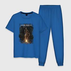 Пижама хлопковая мужская Dark Souls Remastered цвета синий — фото 1