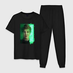 Пижама хлопковая мужская Radioactive цвета черный — фото 1