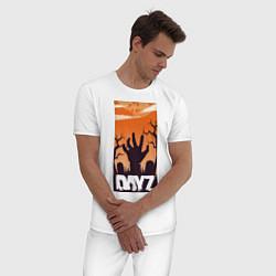 Пижама хлопковая мужская DAYZ ДЕЙЗИ Z цвета белый — фото 2