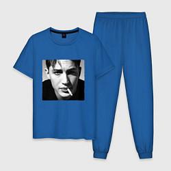 Пижама хлопковая мужская ТОМ ХАРДИ цвета синий — фото 1