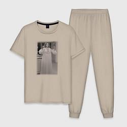 Пижама хлопковая мужская Ванда Вижен цвета миндальный — фото 1