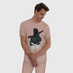 Пижама хлопковая мужская Vigil Rainbow Six Art 01 цвета пыльно-розовый — фото 2