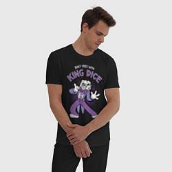 Пижама хлопковая мужская King Dice, Cuphead цвета черный — фото 2