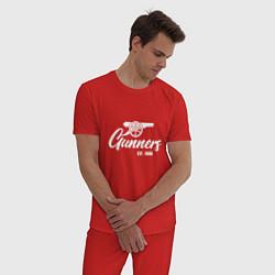 Пижама хлопковая мужская Gunners Arsenal цвета красный — фото 2