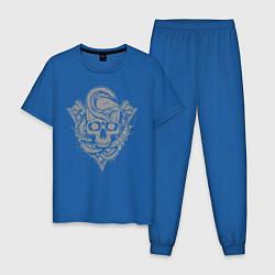 Пижама хлопковая мужская Страж цвета синий — фото 1