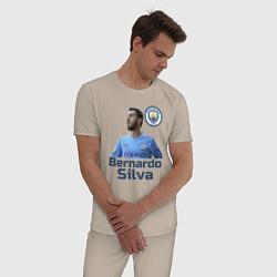 Пижама хлопковая мужская Silva Bernardo Манчестер Сити цвета миндальный — фото 2