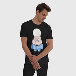 Пижама хлопковая мужская Не злите малыша Гидеона цвета черный — фото 2