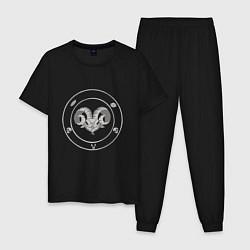 Пижама хлопковая мужская CH Devil цвета черный — фото 1