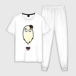 Пижама хлопковая мужская Приведение Венди цвета белый — фото 1