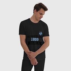 Пижама хлопковая мужская Barca 1899 цвета черный — фото 2