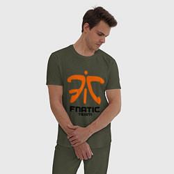 Пижама хлопковая мужская Dota 2: Fnatic Team цвета меланж-хаки — фото 2
