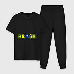 Пижама хлопковая мужская BRASIL 2014 цвета черный — фото 1