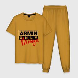 Пижама хлопковая мужская Armin Only: Mirage цвета горчичный — фото 1
