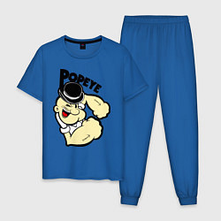 Пижама хлопковая мужская Моряк Попай цвета синий — фото 1