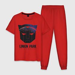 Пижама хлопковая мужская Linkin Park: Iridescent цвета красный — фото 1