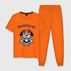 Пижама хлопковая мужская Motorhead цвета оранжевый — фото 1