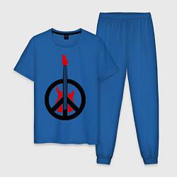 Пижама хлопковая мужская Pacific Rock цвета синий — фото 1